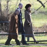 The royals were attending a Sunday service at St. Mary Magdalene Church in Sandringham. Photo C Getty Images