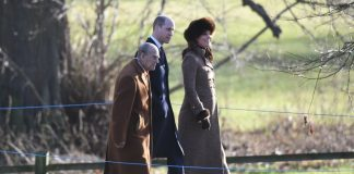 The royals were attending a Sunday service at St. Mary Magdalene Church in Sandringham. Photo (C) Getty Images