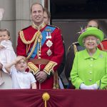 Trooping the Colour Kate Middleton Princess Charlotte Prince George Prince William 5