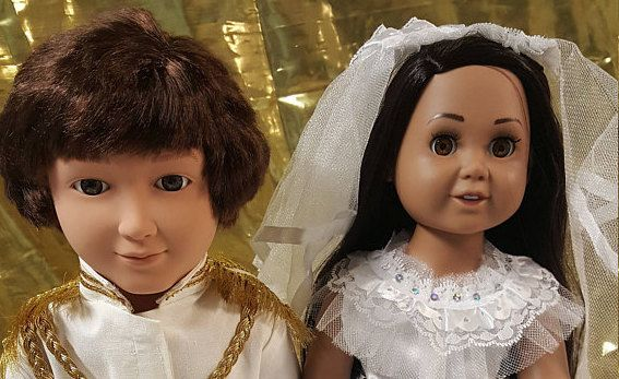 Why not celebrate the upcoming wedding with a pair of 'lookalike' dolls Photo Etsy