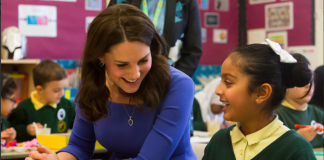 With as many as one in ten young children experiencing a mental health issue before the age of 11, HRH has put young people Photo (C) KENSINGTON ROYAL TWITTER