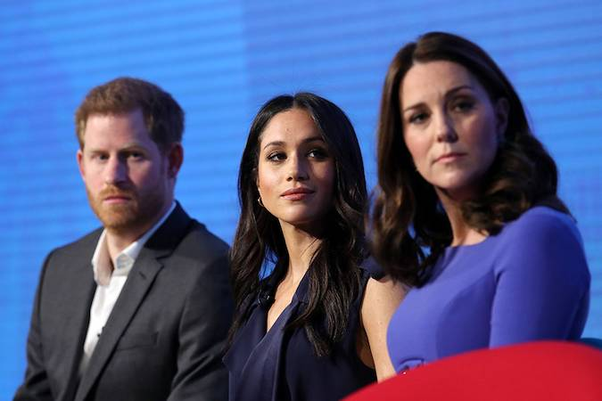 Meghan Markle and Kate's first official joint engagement Photo (C) GETTY