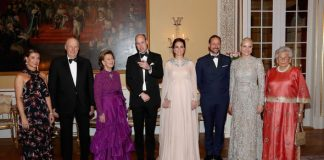 The couple with the Norwegian royals Photo (C) GETTY