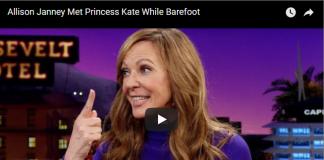 Allison Janney Met Princess Kate While Barefoot