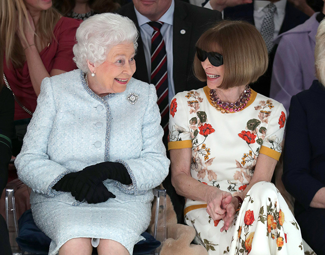 Anna came under fire for wearing sunglasses while talking to the Queen Photo (C) GETTY
