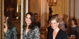 Catherine Duchess of Cambridge and Sophie take charge for the fashion night Photo (C) GETTY