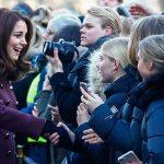 Duchess of Cambridge outside the Hartvig Nissen School where hit Norwegian tv show Skam is filmed Photo C GETTY