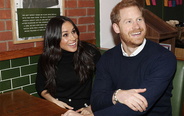 Harry and Meghan popped into sandwich shop, Social Bite Photo (C) GETTY