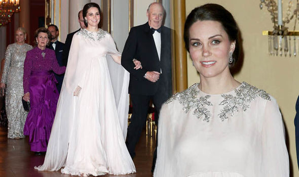 Kate Middleton Looked etheral in Norway - and wears the Queen's wedding gift from Prince Philip Photo (C) I-IMAGES
