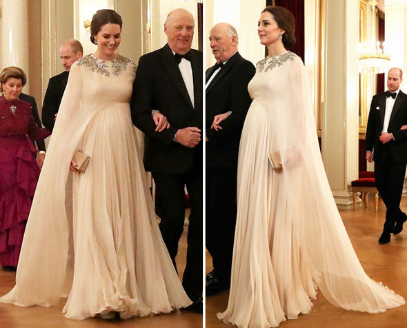 Kate Middleton The Duchess wore a custom-made Alexander McQueen dress Photo (C) GETTY
