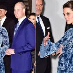 Kate Middleton has been spotted wearing a blue floral dress in Sweden Photo (C) GETTY