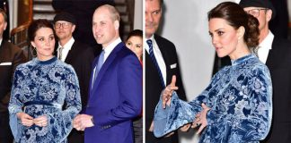 Kate Middleton has been spotted wearing a blue floral dress in Sweden Photo C GETTY