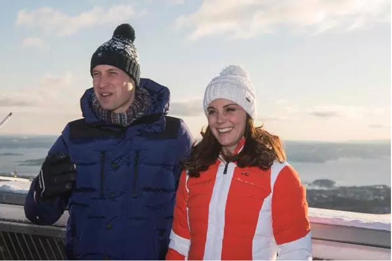 Kate Middleton hilariously tried to start a snowball fight with Prince William, but he was not interested because it was too cold. Pictured: Prince William, Middleton smile at Holmenkollen ski jump where they watched junior ski jumpers from Norway's national team in action on day 4 of their visit to Sweden and Norway on Feb. 2, 2018 in Oslo, Norway. Photo: Victoria Jones - WPA Pool/Getty Images