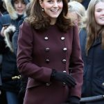 Kate Middleton kept her blossoming stomach under wraps Getty