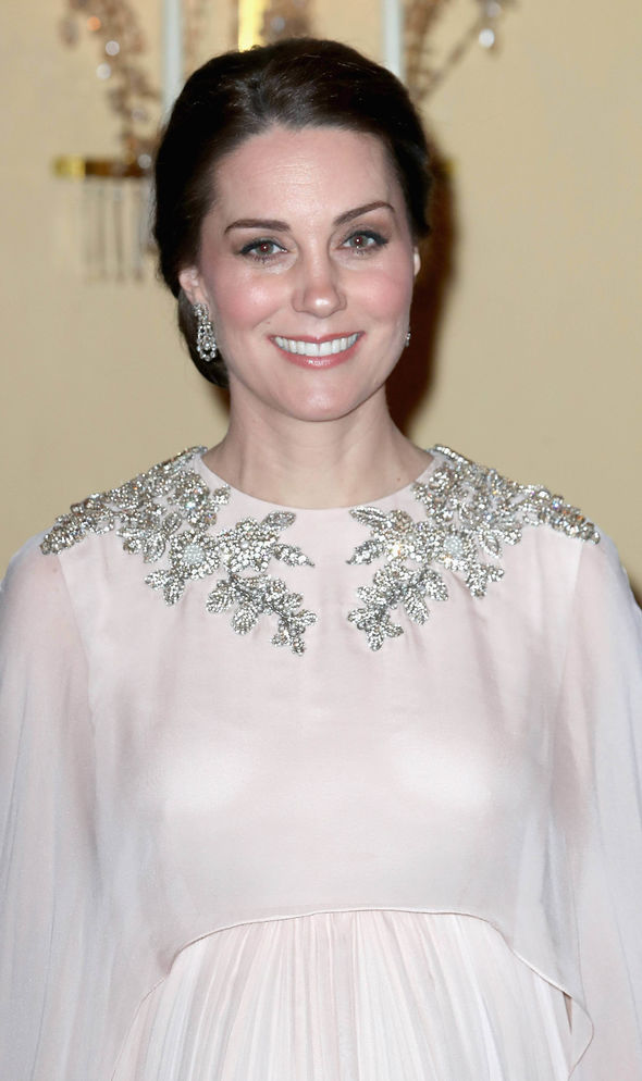 Kate wore an Alexander McQueen gown Photo C GETTY