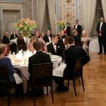 King Harald V of Norway makes a speech at a dinner as Kate looks on Photo C PA
