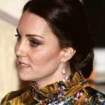 Last night Kate wore earrings that had belonged to Princess Diana Photo (C) PA