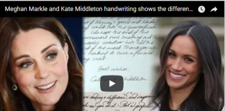 Meghan Markle and Kate Middleton handwriting shows the difference