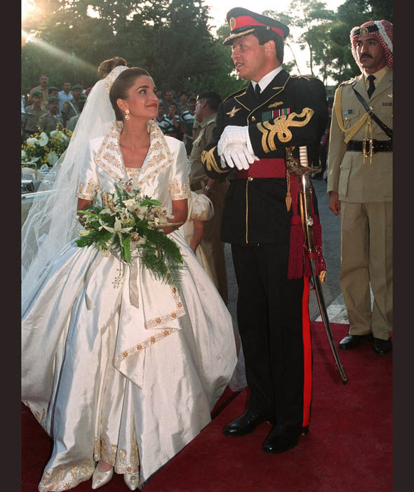 Prince Abdallah and Queen Rania of Jordan in 1993 Photo (C) AFP, GETTY