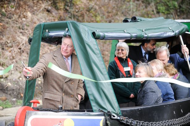Prince Charles snips the ribbon to mark the official opening of the canal between Stonehouse and Thrupp Picture Eloisa Wildsmith 02 02 18