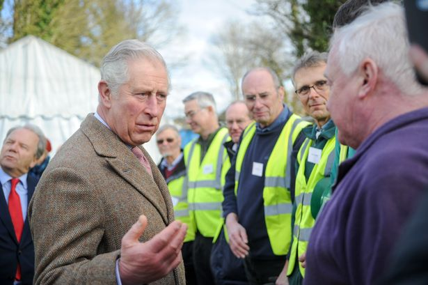 Prince Charles talks to volunteers from the Cotswold Canals Trust Picture Eloisa Wildsmith 02 02 18