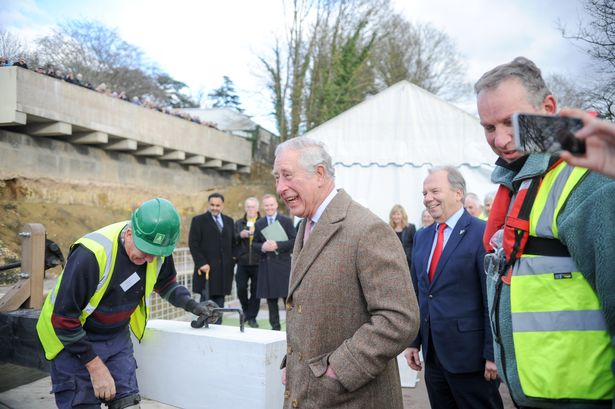 Prince Charles visiting Stroud to mark the restoration of the canal between Stonehouse and Thrupp. Picture Eloisa Wildsmith 02 02 18