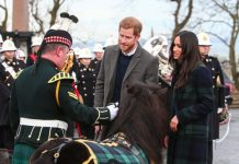 Prince Harry and Meghan Markle visit Edinburgh Castle on what is the couple's first visit to the Scottish capital[Wenn]