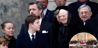 Prince Henrik of Denmarks final romantic surprise for his wife at his funeral Photo C GETTY