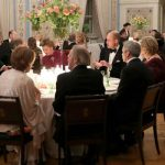 Prince William next to Queen Sonja of Norway at dinner Photo (C) PA