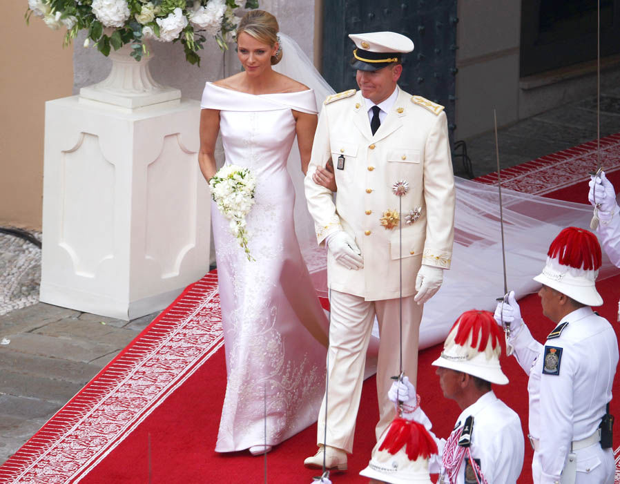 Princess Charlene and Prince Albert II of Monaco on their wedding day in 2011 Photo (C) GETTY