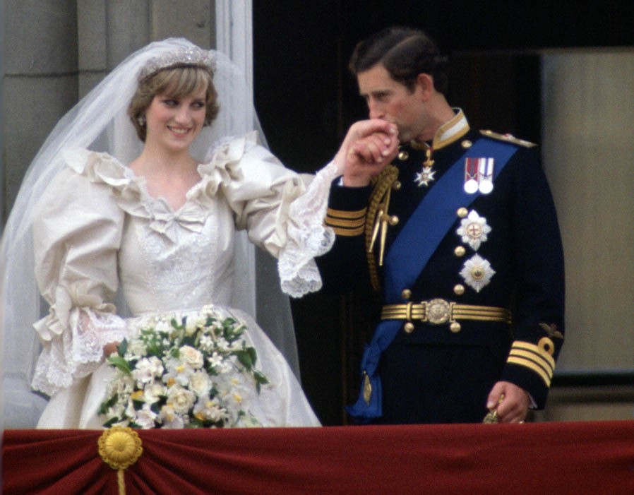 Princess Diana with Prince Charles on their wedding day Photo (C) GETTY