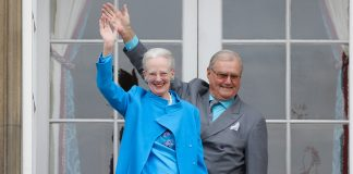 Queen Margrethe II and Prince Henrik who have two sons Crown Prince Frederik and Prince Joachim and eight grandchildren Photo C GETTY