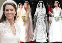 Royal wedding dresses through the years Queen Elizabeth II to Kate Middleton Photo (C) GETTY