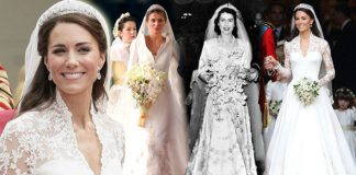 Royal wedding dresses through the years Queen Elizabeth II to Kate Middleton Photo C GETTY