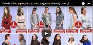 Kate Middleton pregnancy bump suggests she may have girl