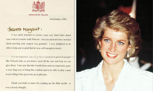 Some of the last letters Princess Diana wrote have emerged showing her kindness to an Aids victim Photo (C) WMPS, GETTY