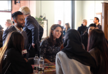 The Duchess chats to members of the Young Asian Voices Youth Project - an organisation that provides affordable education, health, welfare & recreation. Photo (C) KENSINGTON ROYAL TWITTER