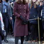 The Duchess of Cambridge arrives at Hartvig Nissen School Getty