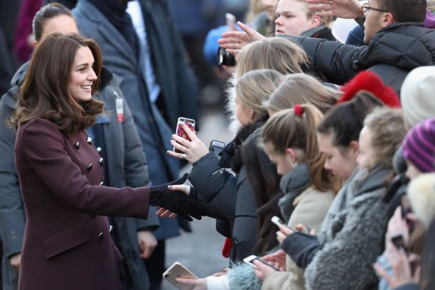 The Duchess of Cambridge didn't hesitate to greet the awaiting crowds [Getty]