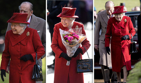 The Queen looked radiant in red Photo (C) PA, GETTY
