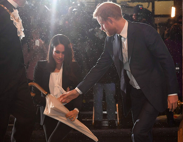 0 Meghan Markle and Prince Harry arriving at the Endeavor Awards this evening Photo C PA