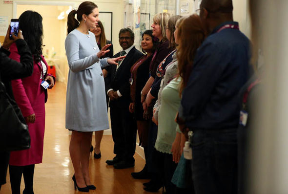 When Kate Middleton has her baby in April, he or she will be fifth in line to the throne Photo (C) GETTY