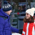 Will and Kate arrive at Holmenkollen ski jump to watch junior ski jumpers from Norway's national Photo (C) REUTERS