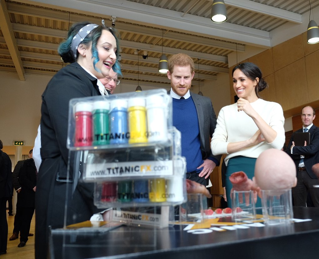Prince Harry and Ms. Markle speak to some of the entrepreneurs being supported by the not-for-profit CatalystIncHQ Photo (C) TWITTER