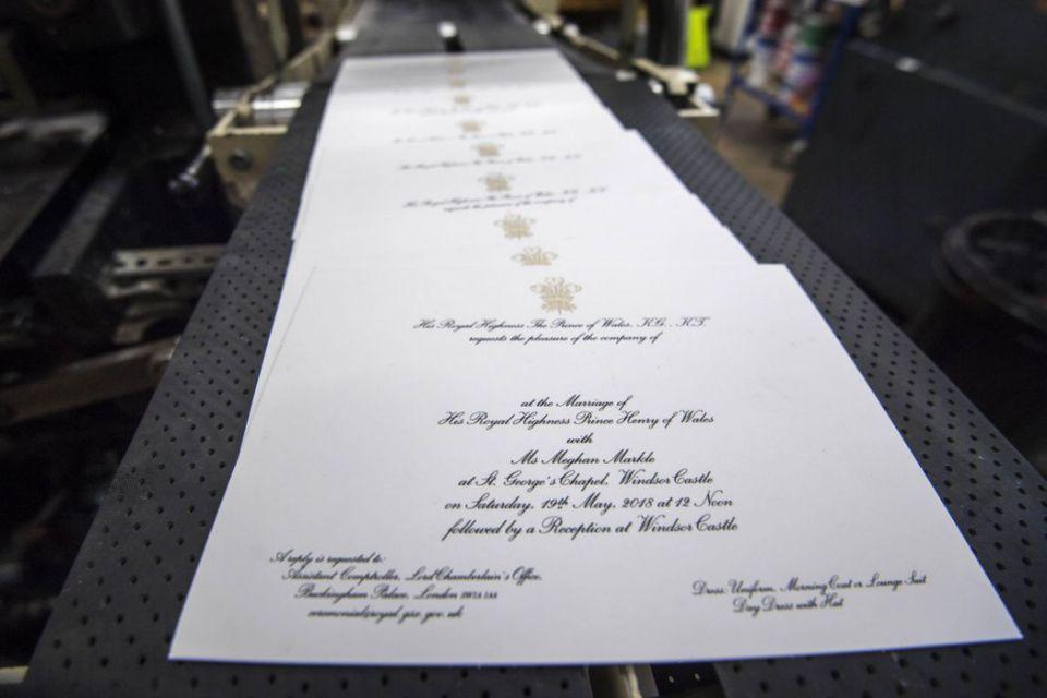 Meghan Markle and Prince Harry invitations