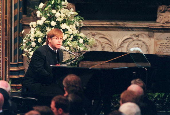CANDLE IN THE WIND Elton famously sang at Princess Diana's funeral Photo (C) GETTY