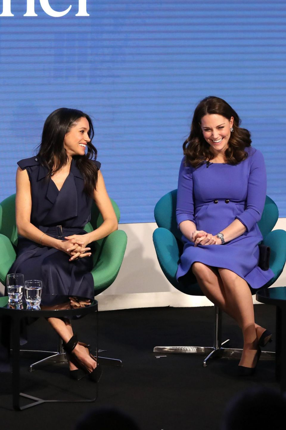 Can you spot how Meghan is copying Kate in this picture Photo Getty Images