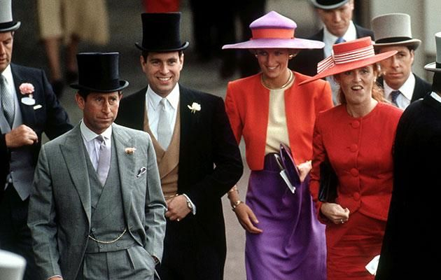 Charles reportedly became convinced he was being ousted by Di and Sarah. Photo Getty