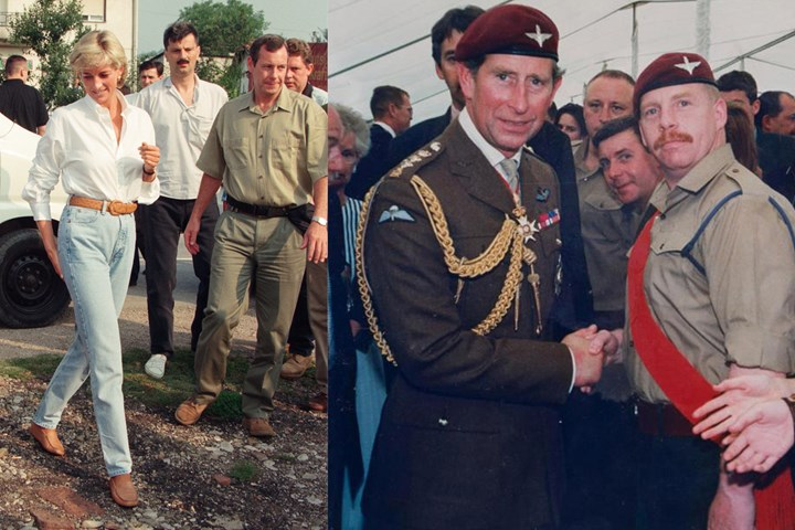 Domeney with Princess Diana and Prince Charles Photo (C) GETTY