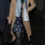 Eugenie completed her attire with semi opaque tights and a pair of ankle boots